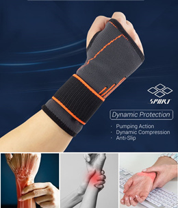 Health Supporter Wrist Guard Premium Sports Protector Injury Health Care Fitted Wrist Brace