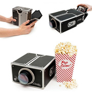1 DIY mobile piece phone projector Smartphone Projector Portable Cinema Mini Card board (Color: Blac