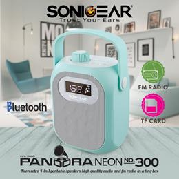 miniSPEAKERS   Pandora Neon 300   Bluetooth Portable Speaker   High Quality Audio/FM Radio