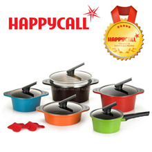 [Happy call Genuine]★Make $76.9★ Primium  Alumite Ceramic 2~5 Pot Set / Made in Korea