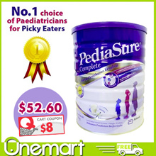 [Pediasure] 1.6kg Vanilla Milk Powder for 1-10 yo Picky Eaters ($65.9-Coupon$12=$53.9Only!)