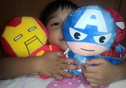 Superhero Cartoon Soft Toys/Stuff Toys/ Flush Toys/ 22cm high/ Avengers/ Captain America/ Iron Man/ Spiderman / Thor/ Hulk/ DC/ Superman/ Batman