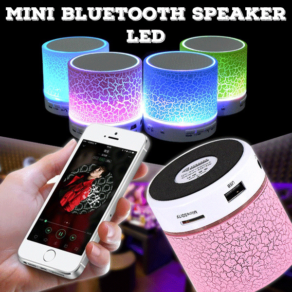 LED MINI Bluetooth Speaker Wireless Portable Music Speaker Sound Box Subwoofer Deals for only Rp40.000 instead of Rp40.000