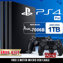 New PS4 1 TB Pro Console + 1 More Controller. Increased Power Intense Graphics.Faster, Smoother Stable Frame Rates. Free 3 M USB Cable. Local Stocks n Warranty!