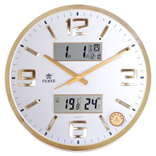 Bully watch simple modern living room wall clock large muted European calendar clock fashion calenda