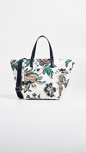 c90c3c10a Qoo10 - Tory Burch Tilda Printed Nylon Small Tote : Bag & Wallet