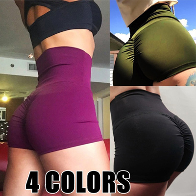 7589293e3a4 Women Fashion High Waist Running Sports Hip Lift Tight Yoga Pants Shorts  Hot Pants