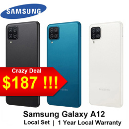[Local set]Samsung Galaxy A12 4+128GB Local 1 Year Samsung Warranty