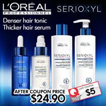 BESTSELLING ★Loreal SERIOXYL Hair Loss Tonic 90ML★Tonic/ Shampoo/ Thicker Hair Serum