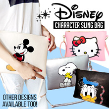 🎀Disney Character Sling Bag🎀Mickey Hello Kitty Snoopy Designs available too!