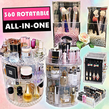 Rotatable Makeup Organizer Rotate Acrylic Cosmetic Beauty Products Storage organiser