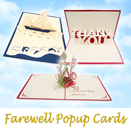 Assorted Farewell Popup Cards | popup-cards.sg