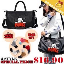 ♥ Free Shipping & Gift ♥ 2Type Mickey Travel 2way Bags ♥ Tote Bags / Shoulder Bags / Luggage