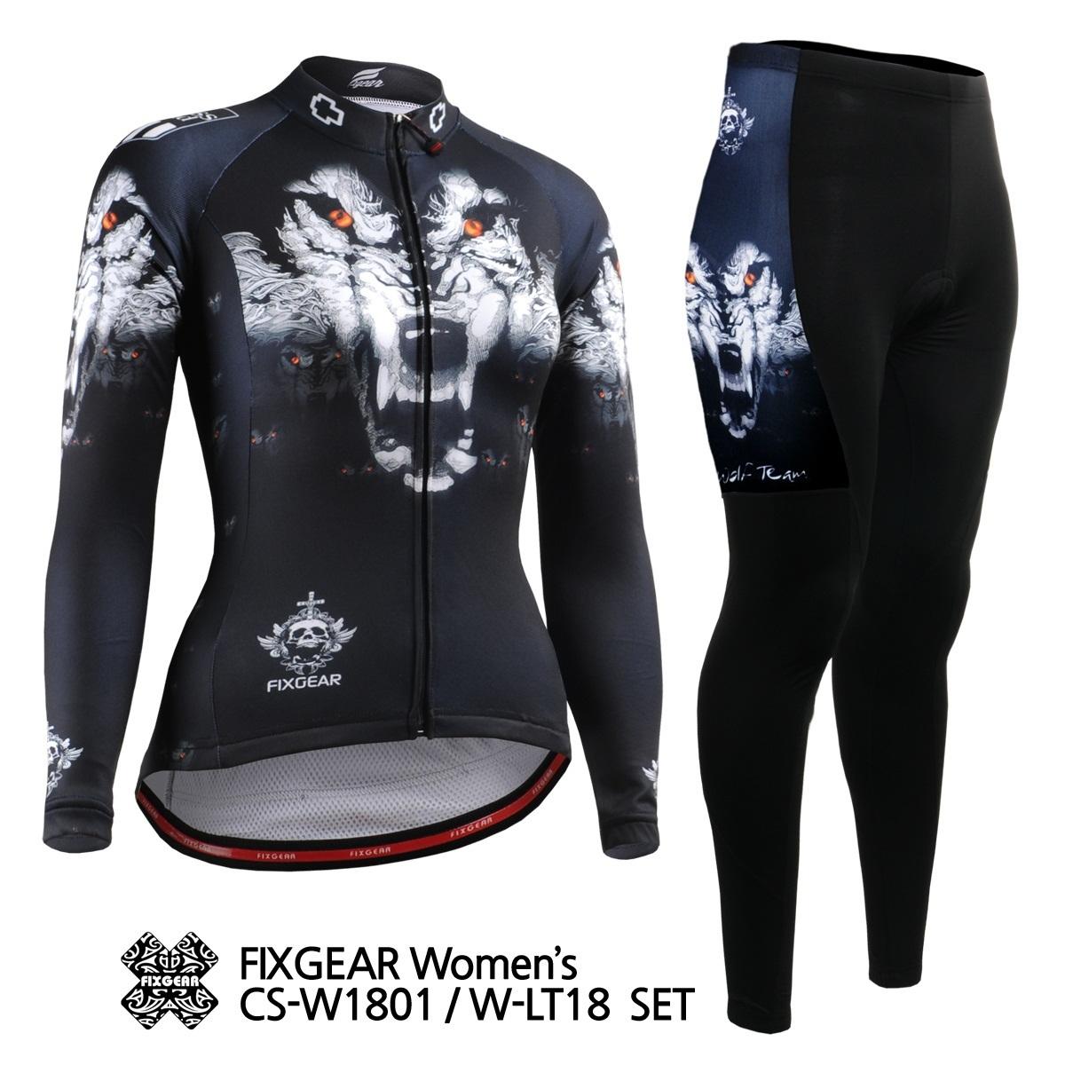 fit to viewer. prev next. FIXGEAR CS-W1801-Set Women s Cycling Jersey Long  Set Road Mountain Bike Shirt 34261903d