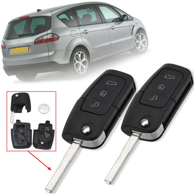 1pcs 2pcs 3 Buttons Remote Key Fob Case Shell With Battery For Ford Focus Mondeo C Max S Max Kuga