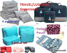 MEGA SALE Travel Organiser*Luggage Organiser*Bag-in-Bag Organiser* *4 pcs*5 pcs*6 pcs*7 pcs
