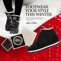 [Paperplanes] Winter Boots Sneakers / Men Women Couple Shoes / Unisex Public Winter Shoes