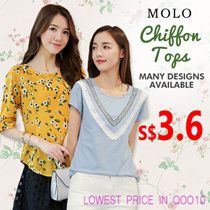 S$3.6 LOWEST PRICE  chiffon tops /blouse/ plus size/ off shoulder top/good quality