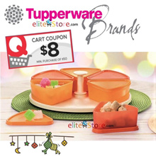 Tupperware Harmony Carousel: Triangular Food keeper 200ml x6 Lazy Susan Lunch Box Food Storage