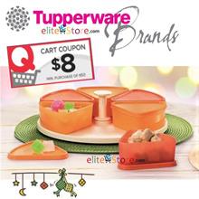 Tupperware Harmony Carousel: Triangular Food keeper 200ml x6 Lazy Susan Lunch Box Food Storage