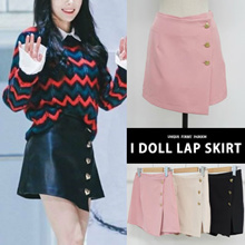 【free shipping】blackpink/SNSD st. I DOLL WRAP SKIRT(3color 2size)