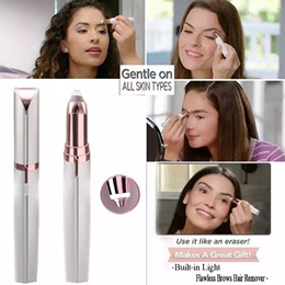 Flawless Brows Electric Finishing Touch Hair Eyebrow Remover Shaver Painless Pen