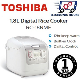 ★ Toshiba RC-18NMF 1.8L Digital Rice Cooker ★ (1 Year Singapore Warranty)