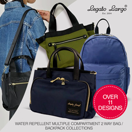 [Legato Largo ] Multi-Storage Shoulder Bag  | Water Repellent Mini Backpack | SMOOTH GRAIN RUCKSACK