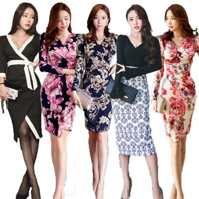 「 01/16新作追加」♥送料無料♥高品質♥韓国ファッション♥OL、正式な場合、礼装ドレス♥セクシーなワンピース、一字肩♥二点セット、側開、深いVネック♥やせて見える、ハイウエストスカート♥无袖、半