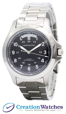 [CreationWatches] Hamilton Khaki King Automatic H64455133 Mens Watch