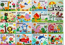 3D Sticker Art DIY♥ baby and kids art work ♥ EVA foam art ♥Beginner series ♥ advance series