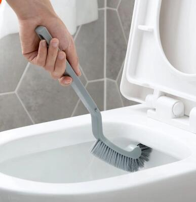 Home Without Corners Toilet Brush Toilet Brush Long Handle Bathroom Cleaning Brush Soft Hair Toilet