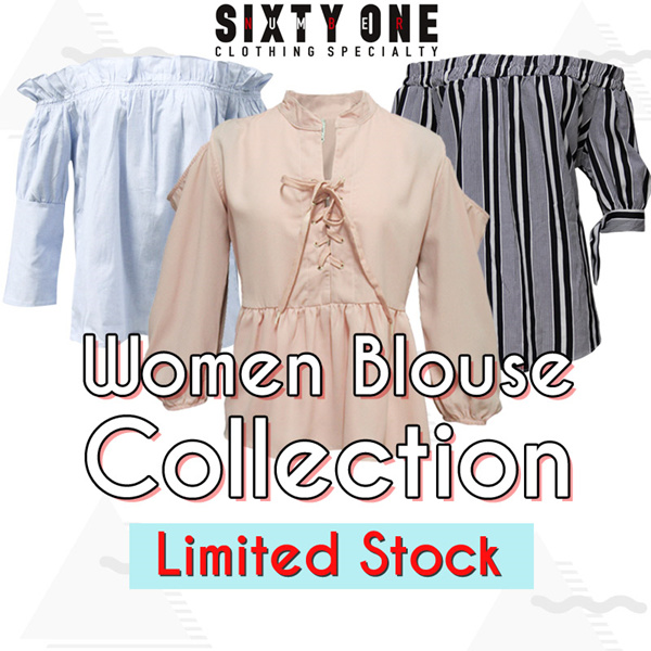 FLAT PRICE! Number61 43styles Blouse Tshirt Shirt and Sweater Collection_Free Ongkir*_Limited Stock Deals for only Rp79.000 instead of Rp79.000