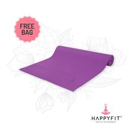 HAPPYFIT MATRAS YOGA 6MM PURPLE (GRATIS TAS)/PVC MAT(FREE BAG)