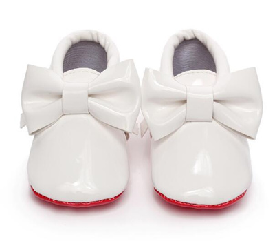 0bf2a4e1bbdb authentic HONGTEYA Red sole Sequins PU Leather Baby Moccasins big bow  Newborn first girls walker Inf