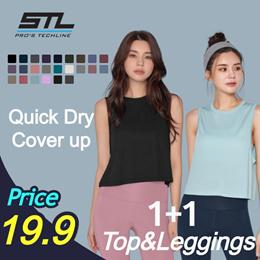 🔥[STL] Qoo10 SALE in Set 🔥1+1 Premium Leggings +Perfect Tank  /Made in Korea /Quick-dry/leggings /