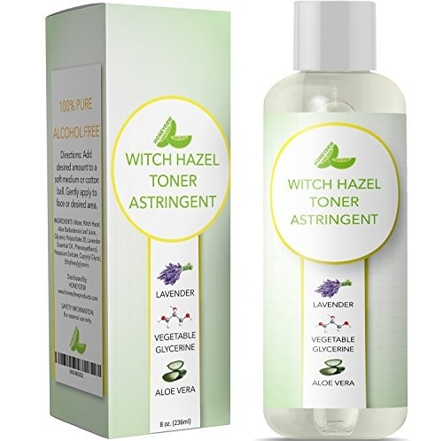 Witch Hazel Toner for Face Alcohol Free Astringent with Pure Lavender  Essential Oil & Aloe for Oily