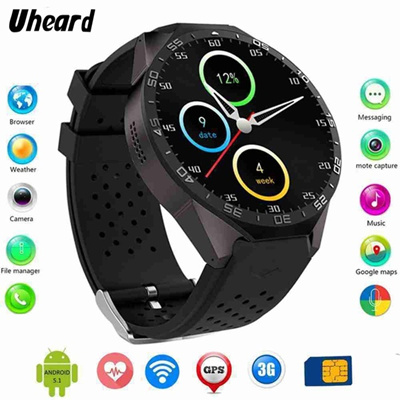 3G WIFI GPS Watch Men Wearable Devices Bluetooth Android 5 1 Smart Watch  SIM Card Camera Heart Rate
