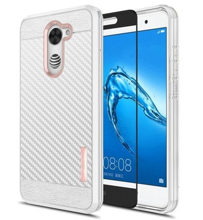 Huawei Ascend XT2 / Elate 4G / Y7 Prime Carbon Fiber Shockproof Slim Armor  TPU Case Cover with Full