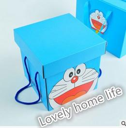 Cartoon Packaging Doraemon Cats Mug Doraemon HelloKitty Square Handy Gift Box