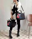 Paris LChmp Le Pliage Neo Embroidered Nylon Tote/Sling Handbag (Small Size)