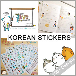 KOREA STICKERS /  Korean Diary Sticker - Assorted Design / Fast Delivery / decoration stickers