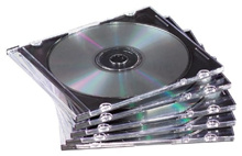 50-pack Slim Jewel Cases- Black Holds One CD/DVD And Booklet (Discontinued by Manufacturer)