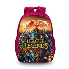 New 3D Backpack League of Legends Print Fashion Characters Cool School Backpacks For Kids Men Women