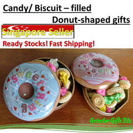 Party gifts Goodie bags Childrens Day Birthday Full Month Wedding Donut Tin