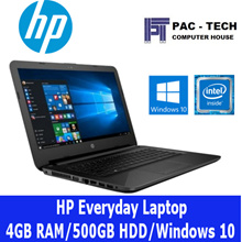 [Brand New] HP Laptop/Intel Processor/4GB RAM/500GB HDD/14 Inch/DVD RW/2 Colours/1 Year HP Warranty|Use Qoo10 Cart Coupon for More Discount|