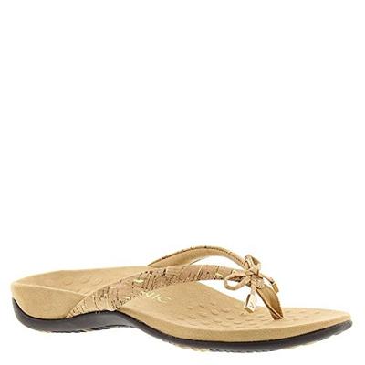 0c3d4492ce80 Qoo10 - Vionic Bella - Womens Orthotic Thong Sandals Gold Cork - 10 ...