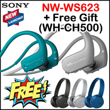 Apply$10 (7~9 Dec)◆Free Gift WH-CH500◆Sony NW-WS623 4GB Walkman MP3 Player Bluetooth Earphone