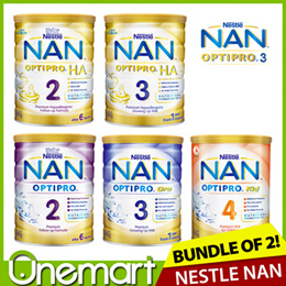 [NESTLE NAN] 2 x 800g Optipro 2 / Optipro Gro 3 / 900g Kid 4 ★ OFFICIAL E-RETAILER IN SG