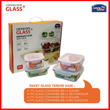 LOCK N LOCK GLASS CONTAINER SET (4PCS)